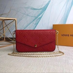 Louis Vuitton 3 in 1 crossbody red